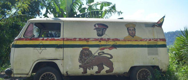 Lion of Judah on a Rasta Van