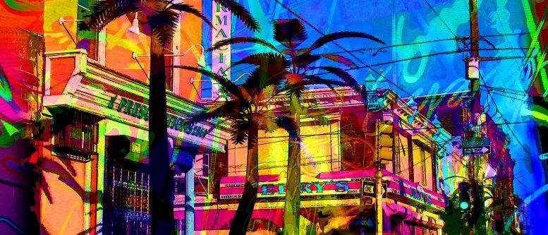 South Beach Palms by Robbi Robbins
