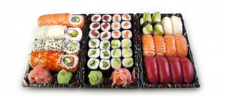 Sushi, Set, Nigiri, Maki, Fish, Raw, Salmon, Rice