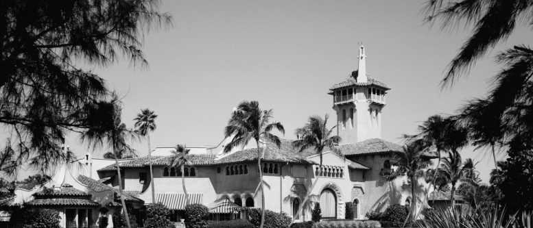 Mar-A-Lago — the Florida estate of Marjorie Merriwether Post, designed by Joseph Urban. Image courtesy of federal HABS—Historic American Buildings Survey in Florida project.